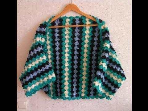 Tutorial Crochet Chaqueta ganchillo paso a paso en español - YouTube