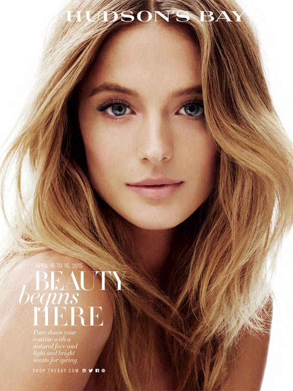 The gorgeous cover of Hudson's Bay beauty book photographed by Andrew Soule.