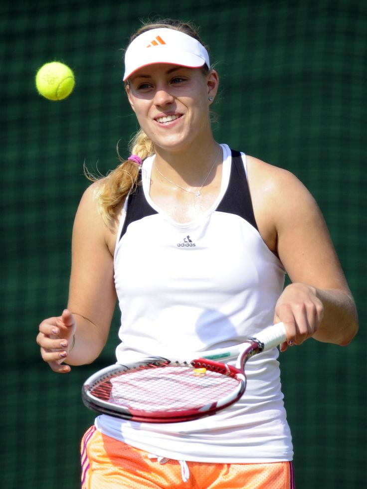 Angelique Kerber training at 2012 Olympic Games in London, 25 July #WTA #Kerber #Olympic