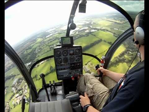 GoPRO: Helicopter PPL training - Flight 38 Second Solo Schwietzer 300 CB...