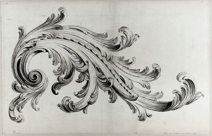 Rococo design by Gabriel Huquier