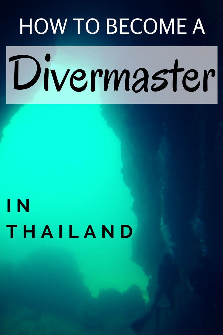 What you need to know on becoming a Divemaster in Thailand, from our experienced diving writer! Get scuba diving in Thailand. #Thailand #SoutheastAsia #scubadiving #diving