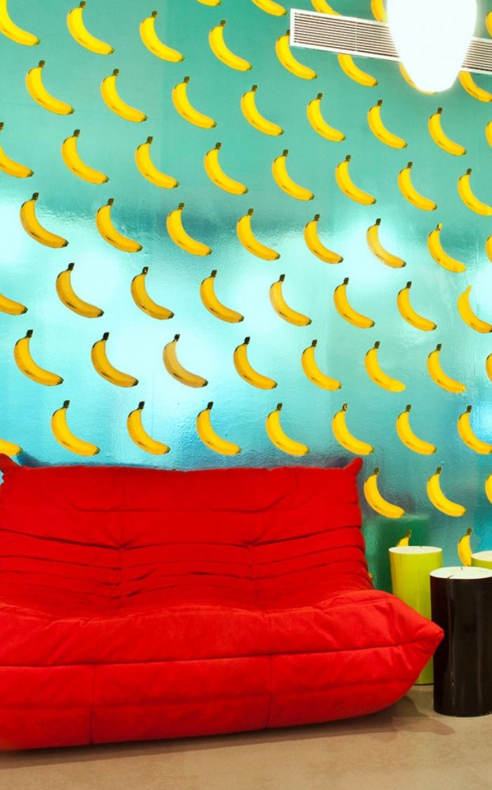 Pinner before:If you go bananas for bananas, then you might want to check out the unusual wallpaper created byFlavor Paper in collaboration withMichael Angelo of Wonderland Beauty Parlor. It features…