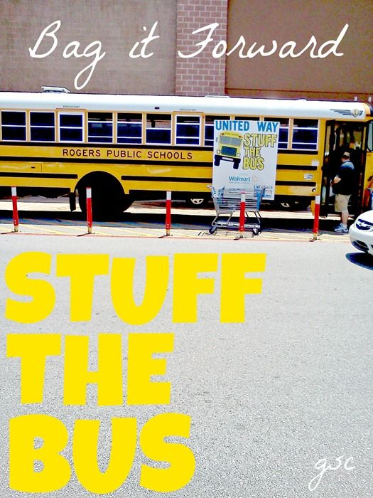 Ginger from Ginger Snap Crafts participated in Stuff the Bus to help kids get supplies for school! #Champions4Kids #Bagitforward #CBias