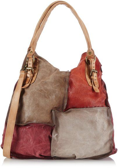 A.S.98 151595, Borsa shopper donna, Rosso (Rot (ribes+stone+rino+ter 9568)), 39x57x16 cm (B x H x T)