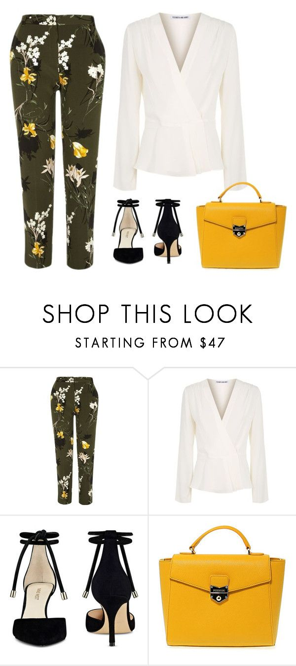 """""""Spring business inspiration"""" by monika1555 on Polyvore featuring River Island, Elizabeth and James, Nine West and POMIKAKI"""