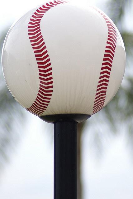 Baseball Lamp Post