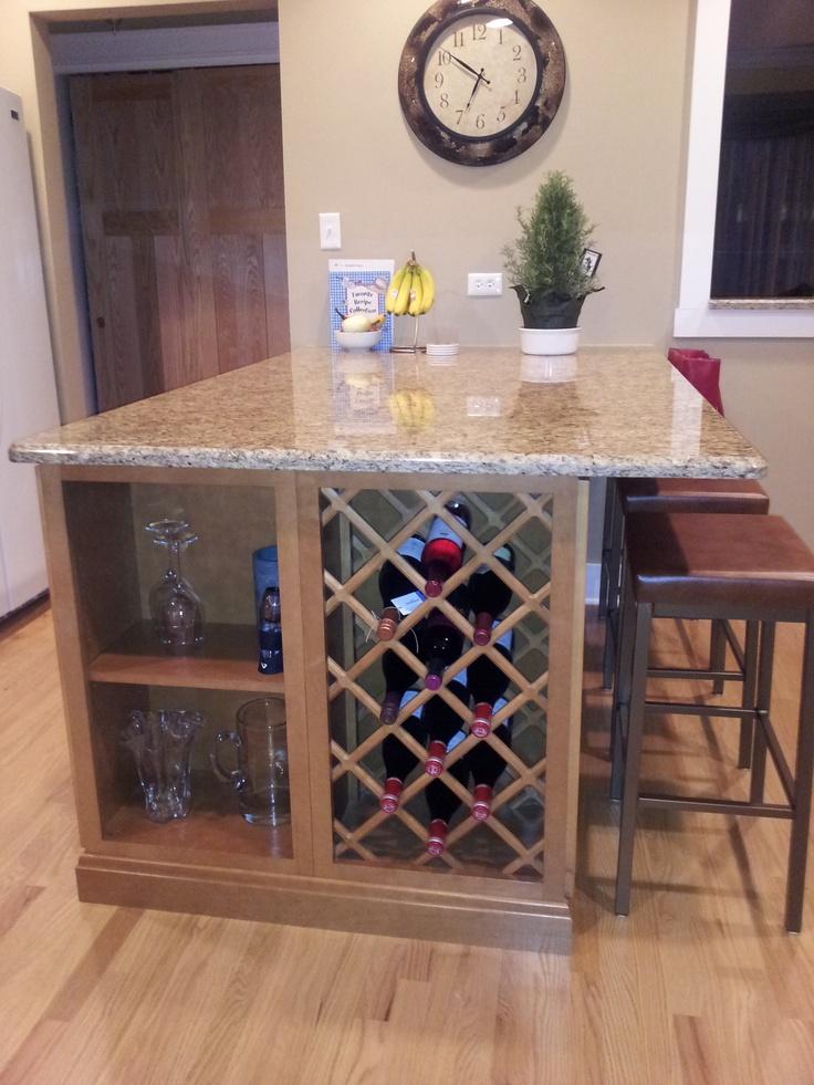 heart my built in wine rack!  kitchen love  Pinterest