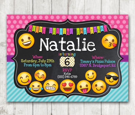 Para Imprimir Invitaci 243 N De Fiesta De Cumplea 241 Os De Emoji