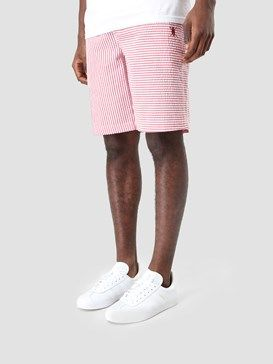 Daily Paper Striped Seersucker Shorts Red Ss17B73