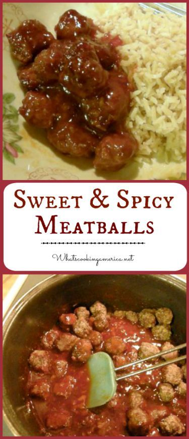 Spicy meatballs, Spicy and Meatball appetizers on Pinterest