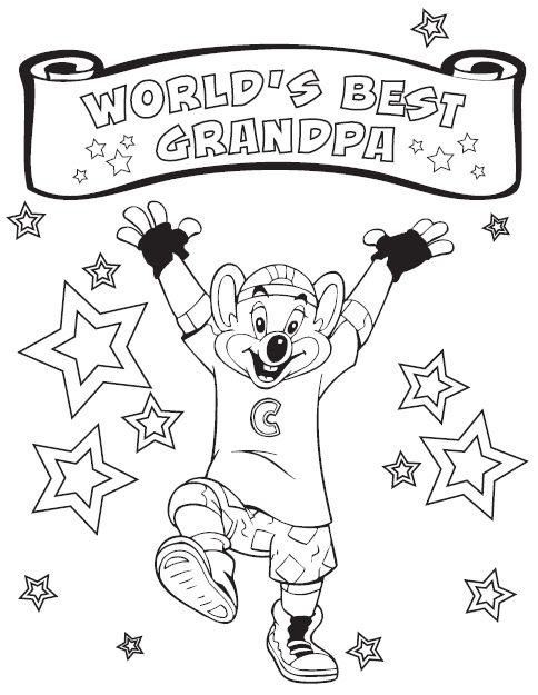 Free Coloring Pages Of Chucky Cheese