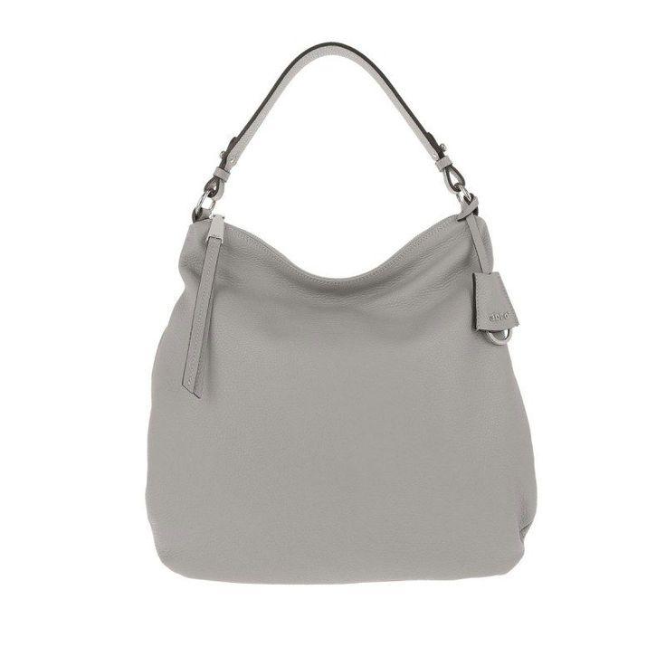Abro Abro Tasche – Adria Leather Hobo Bag Light Grey – in grau – Umhängetasche für Damen