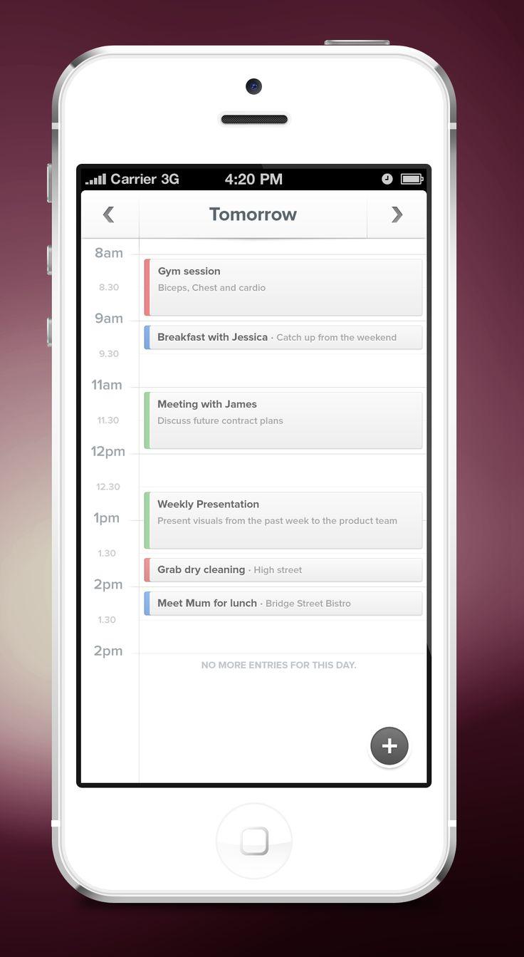 Schedule App by George Gliddon