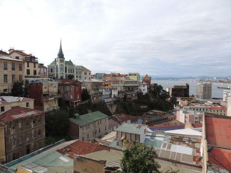 Vistas de Valparaíso desde el Cerro Alegre.