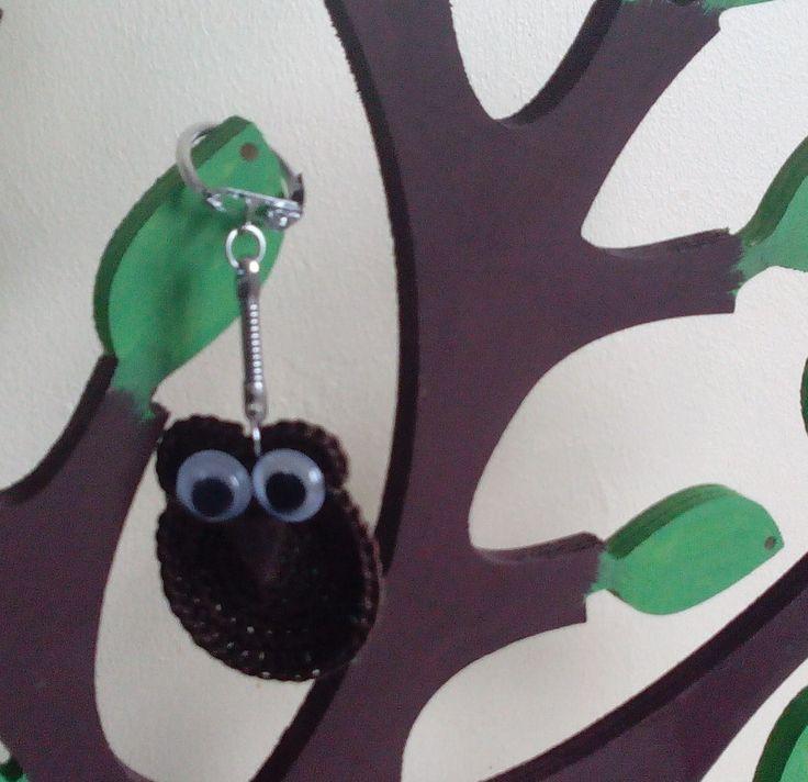Chouette marron vraiment trop chouette!!! : Porte clés par pamamoune