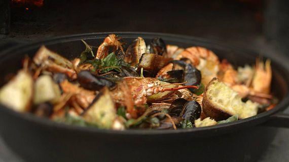 James Martin shellfish seafood stew recipe on James Martin: Home Comforts
