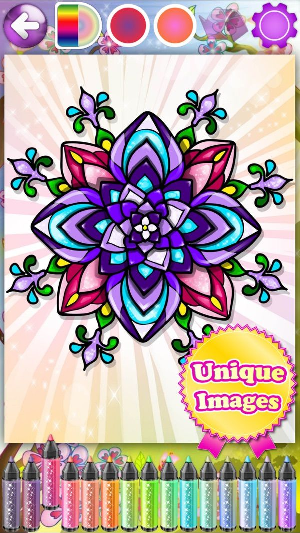 Flower Coloring Books For Adults Roses Mandalas On The App Store Coloring Books Flower Coloring Pages Anti Stress Coloring Book