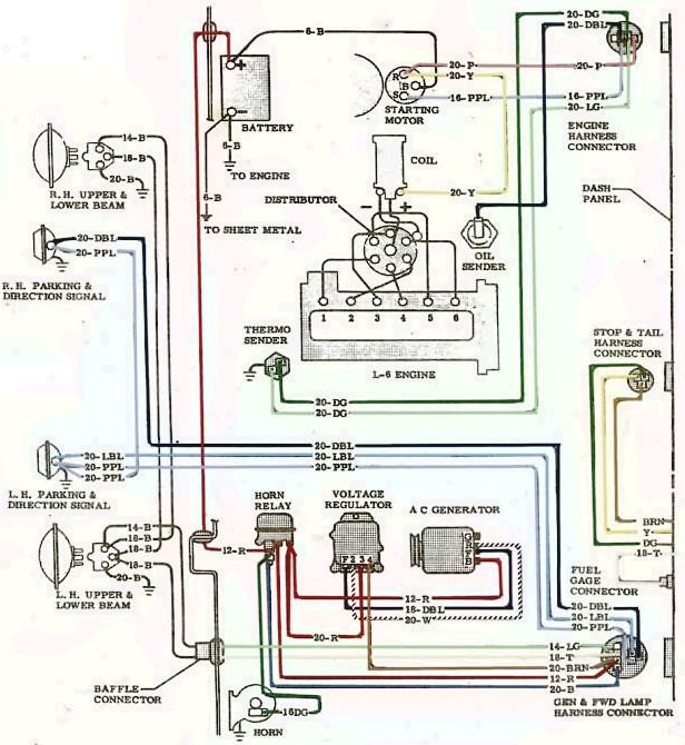 1964 GMC Truck Electrical System Wiring Diagram Schematic