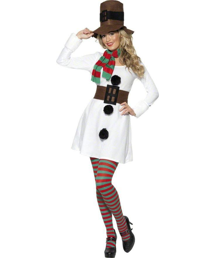 Smiffy's - Schneemann-Kostüm für Damen - M