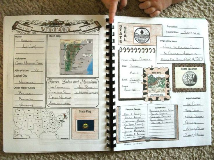 statebook  basic printable overview for 50 states