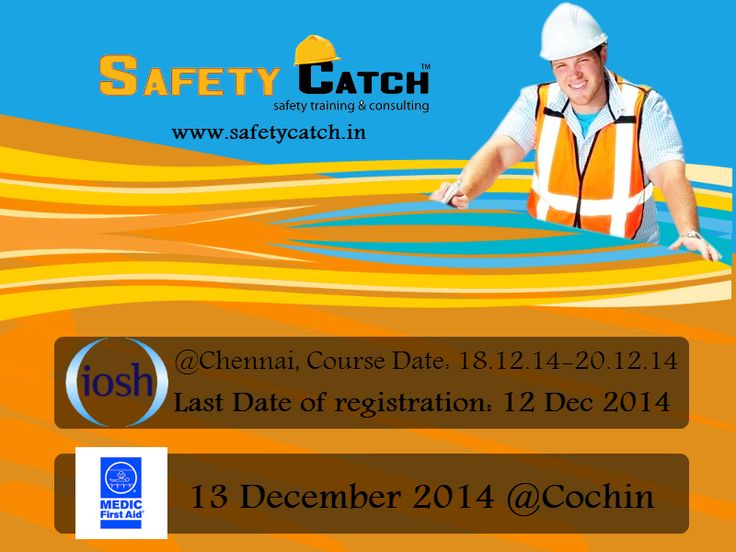 Hurry Register Now! For Online Registration: http://bit.ly/1rO8VEz Contact us for Details: http://bit.ly/1nSPybO  #safetytraining #IOSH #Ioshtraining #IOSHtraininginIndia #safetytraininginIndia #safetycatch #medicfirstaid #medicfirstaidtraininginIndia