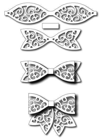 Frantic Stamper - Precision Dies - Large Swirl Paper Bow
