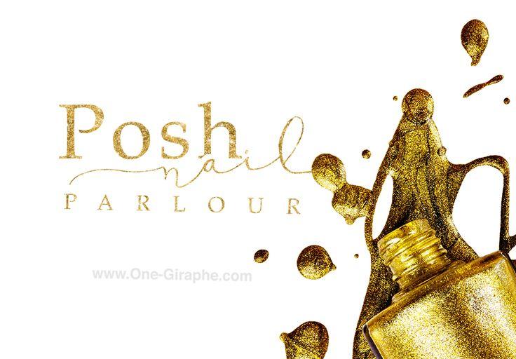 www.One-Giraphe.com http://one-giraphe.com/prev.php?c=162 #logo #nail #gold #luxury