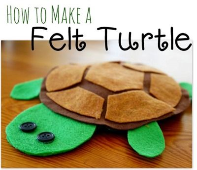 Felt turtle craft, beads with kids and more