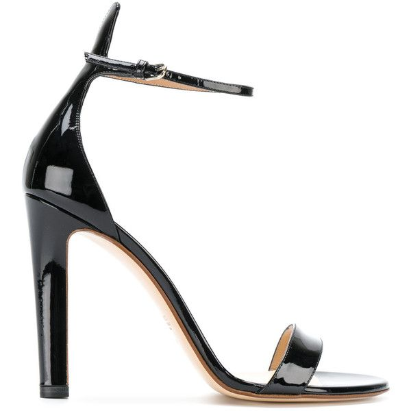 Francesco Russo ankle strap sandals ($870) ❤ liked on Polyvore featuring shoes, sandals, heels, zapatos, black, heeled sandals, ankle tie sandals, kohl shoes, ankle wrap shoes and ankle strap sandals