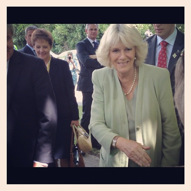 The Duchess of Cornwall at Massey University 15/11/2012