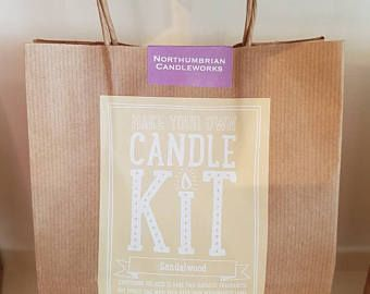 Craft kit - make your own candle - sandalwood - candle kit
