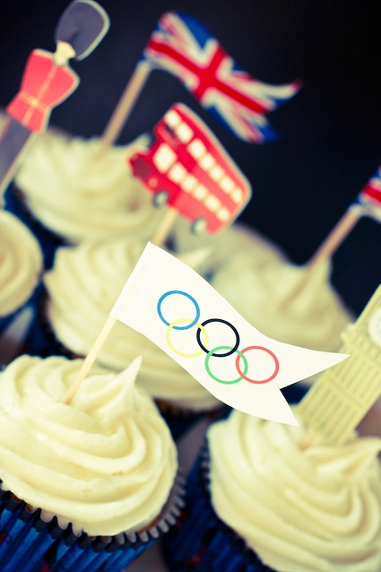 London Olympics Cupcakes.
