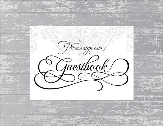 Antique Gate Guestbook Sign 5x7 DIY Wedding by CreativePapier, $5.00