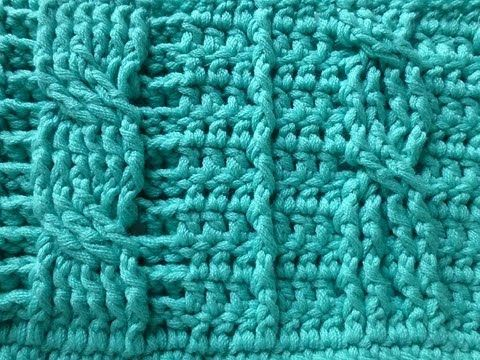 This easy cable stitch will work just as easy with Tunisian crochet.Crochet with eliZZZa * Crochet Cable Stitch with front post and back post double crochets can´t understand all complicated cable tutorial on the web? Tunisian makes it so easy!
