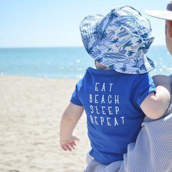 Eat, Beach. Sleep. Repeat onesie