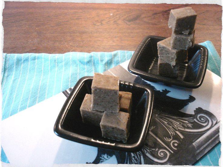 homemade Liquorice fudge squares