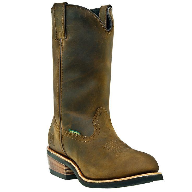 Dan Post DP69681. Waterproof MID Brown Western Work Boot *Also Available In Steel  Toe