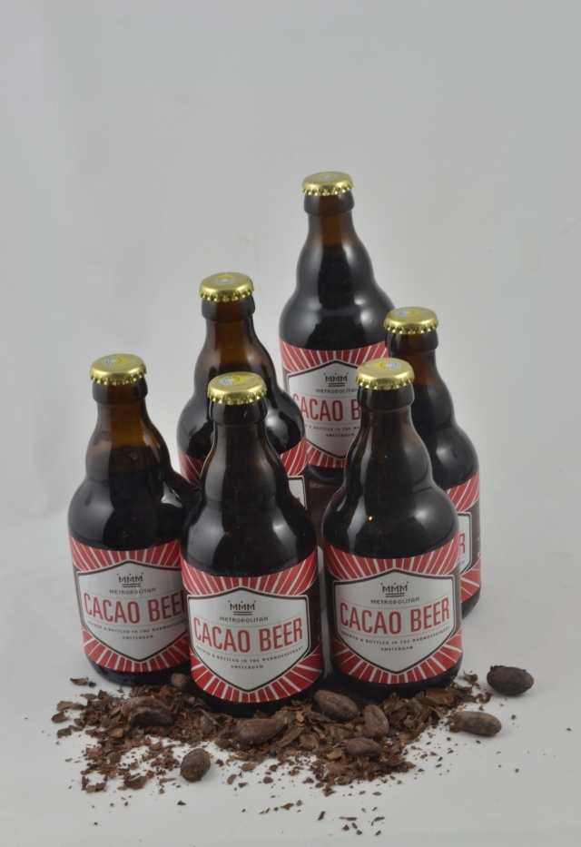 Chocolate beer brewed from the shells of cacao pods. Beer and chocolate, a match made in heaven :) From our friends at Metropolitan Deli.
