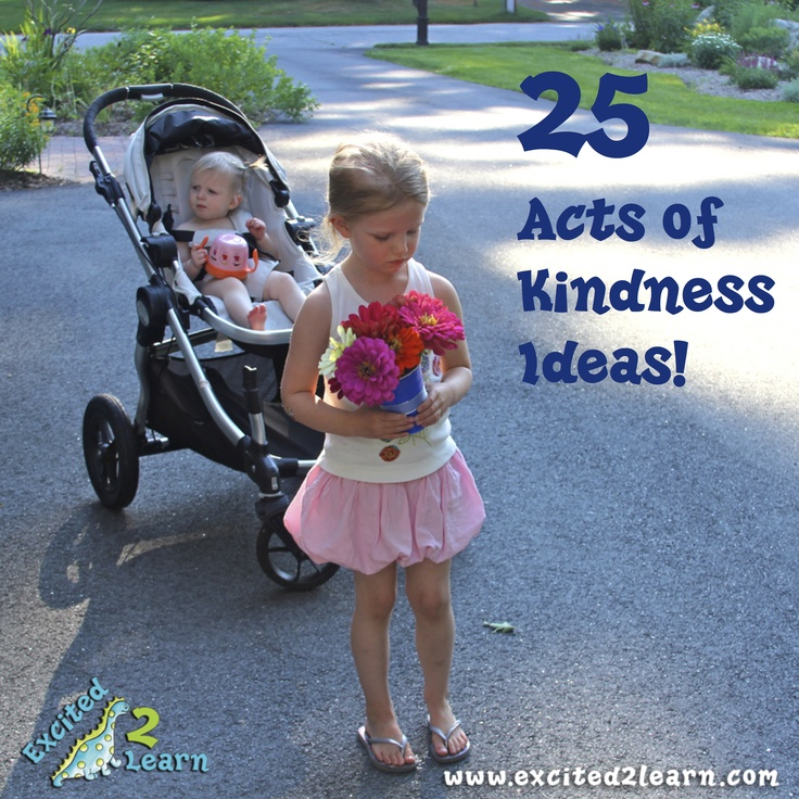 SUMMER FUN! 25 Acts of Kindness Ideas… | Excited2Learn