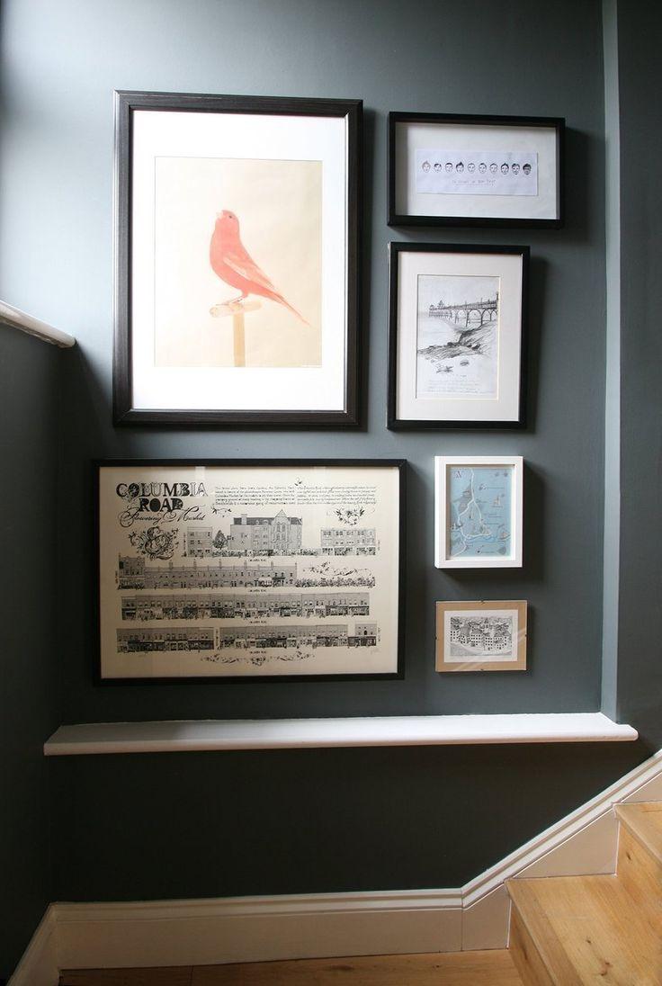 Ben & Viv's Organic Mews House. Really like the way they arrange wall arts.