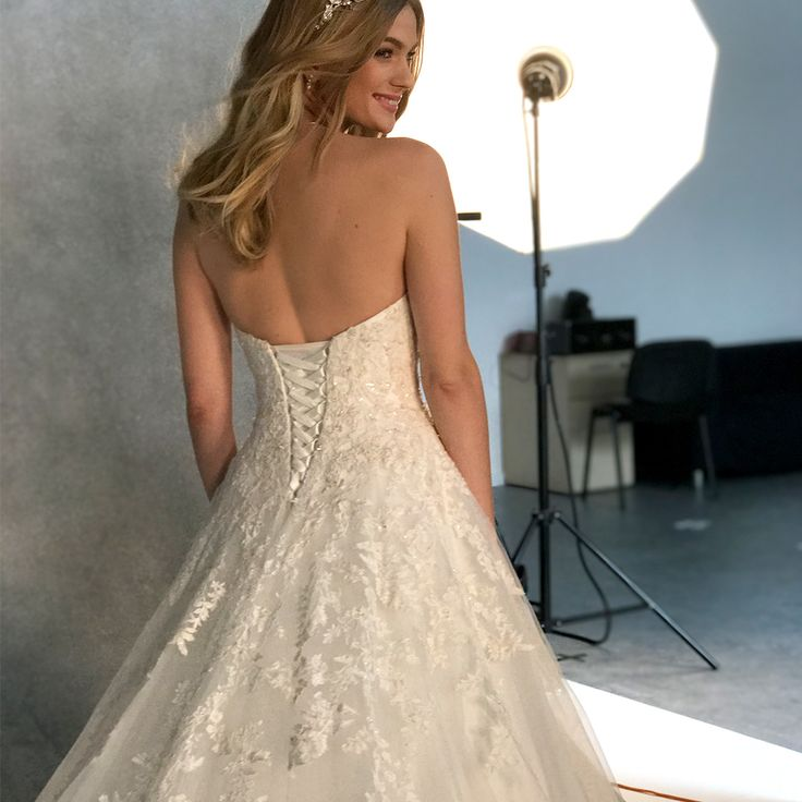 The intricate 'Maddie' gown by Viva Bride❤️We just love the sparkling beaded embroidery which adorns the bodice❤️