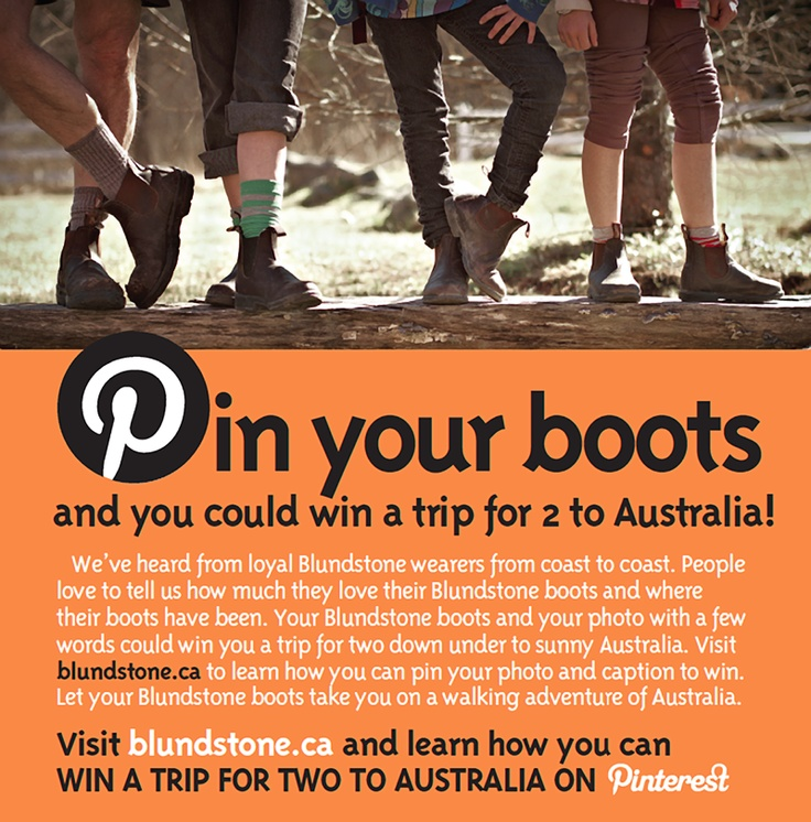 Blundstone's pin your boots to win... a trip for two to Australia. Time to buy a pair?