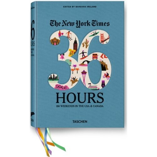 This NY times column is my go-to when I am  traveling. I had no idea that it was a book.  Great Gift Ideas for People who love to Travel. The  New York Times 36 Hours: 150 Weekends in the USA & Canada book.