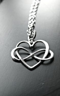 Sterling Silver Infinity Heart Necklace by yourcharmedlife
