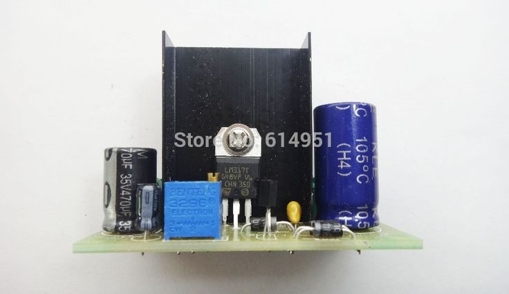 LM317 AC/DC Input DC Output Converter Power Supply Module Adjustable Linear Regulator