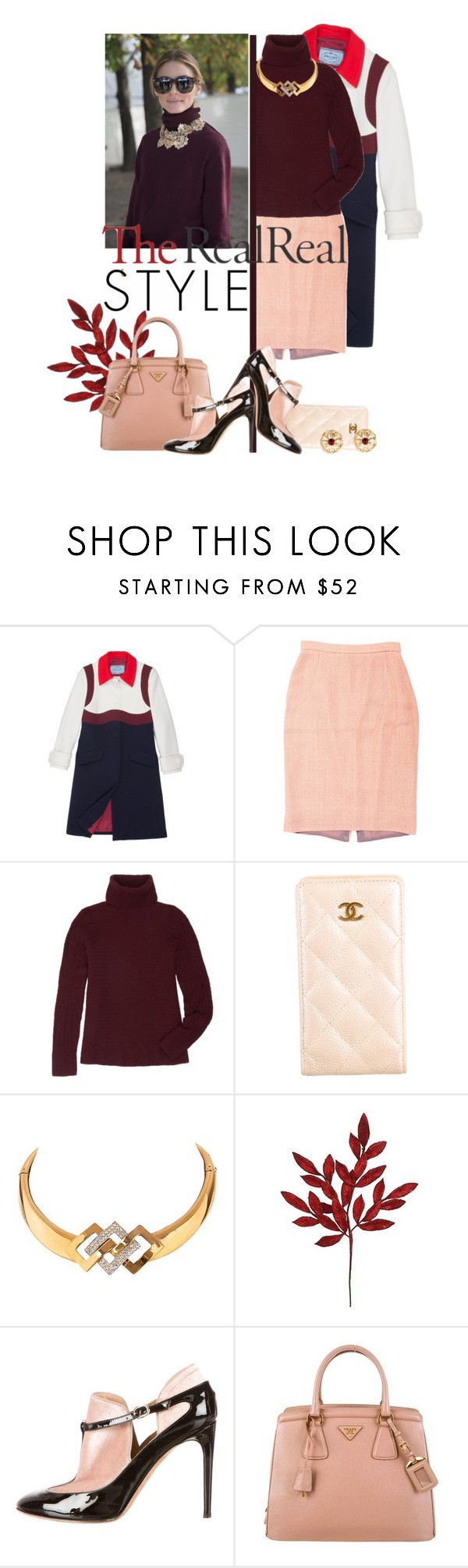 """Fall Style With The RealReal: Contest Entry"" by iraavalon ❤ liked on Polyvore featuring moda, Prada, The Row, Chanel, Valentino i Givenchy"