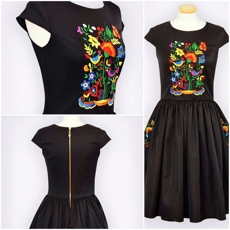 Embroidered dress with traditional motifs  #dress #folkmotifs