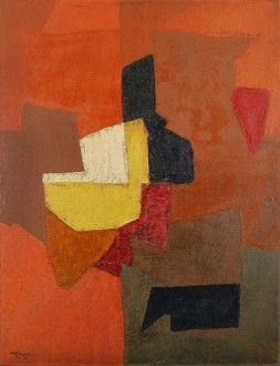 Composition dominante rouge, Serge Poliakoff 1951