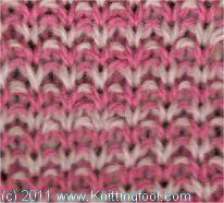 Salt and Pepper Tweed - Knittingfool Stitch Detail
